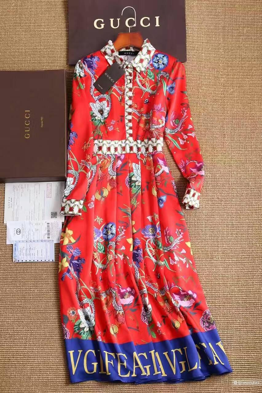 94bde1ca475adc2 Платье gucci красное коллекция Pre-Fall 2017, в магазине Российский ...