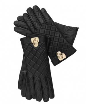 Michael kors кожаные перчатки с логотипом