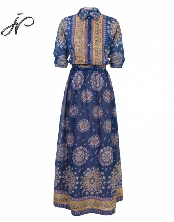 Длинное платье LO Jana Nedzvetskaya с шелком в составе  46 размер