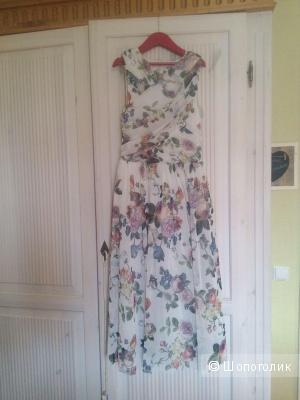 Приталенное платье миди с цветочным принтом ASOS, размер 40-42