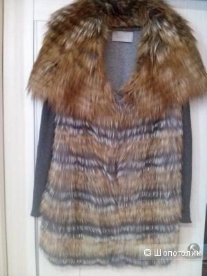 Шикарный жилет-пальто из натурального меха 46 р-р.