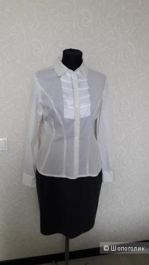 Стрейч хлопковая рубашка, размер L