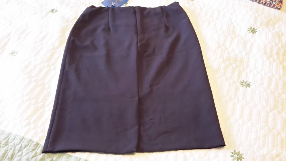 Красивая коричневая юбка футляр BLUE E. BY LES COPAINS размер 44IT на наш 46-48