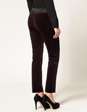 Новые бархатные брюки Karen Millen цвета aubergine (баклажан)