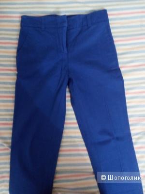 Синие женские брюки со стрелками 40 размер