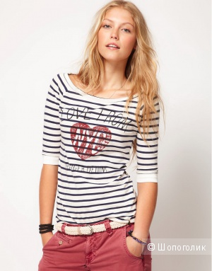Hilfiger Denim Love From T-Shirt - White/blue / XS