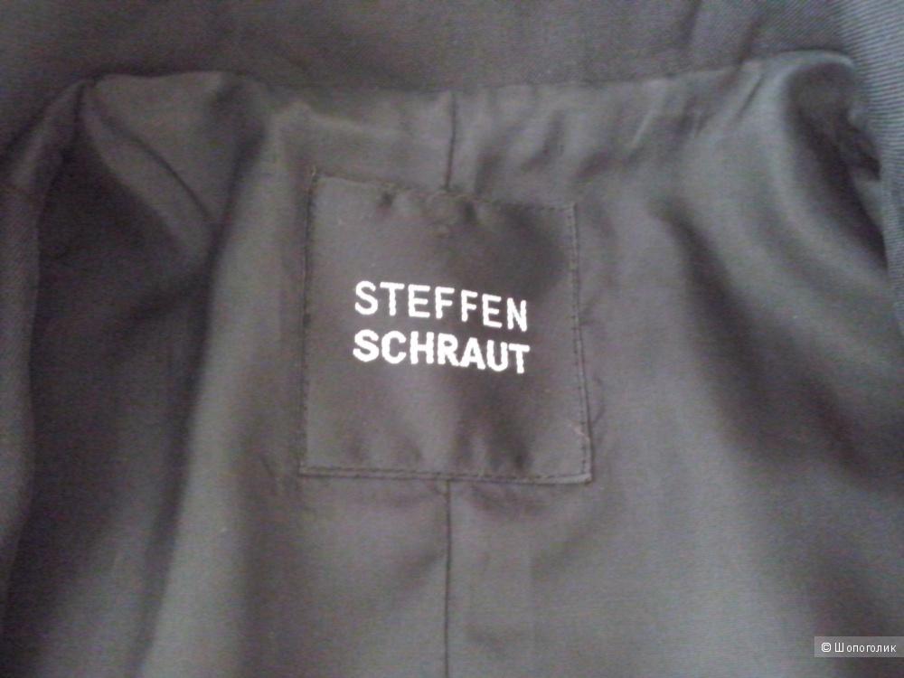 Пальто из натурального шелка с вышивкой STEFFEN SCHRAUT,  р.36