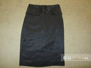Новая черная юбка-карандаш Mango без этикеток 42-44 размер евро 36
