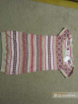 Новое теплое вязаное платье