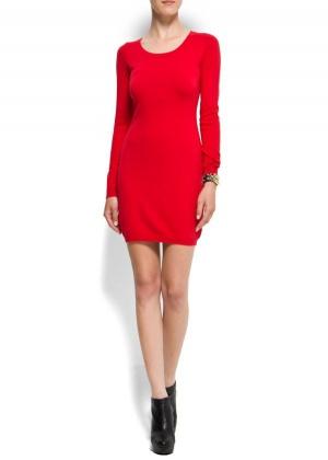 Mango: трикотажное платье с кружевной спиной