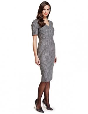 Красивое теплое платье миди по фигуре M&S 12 размер