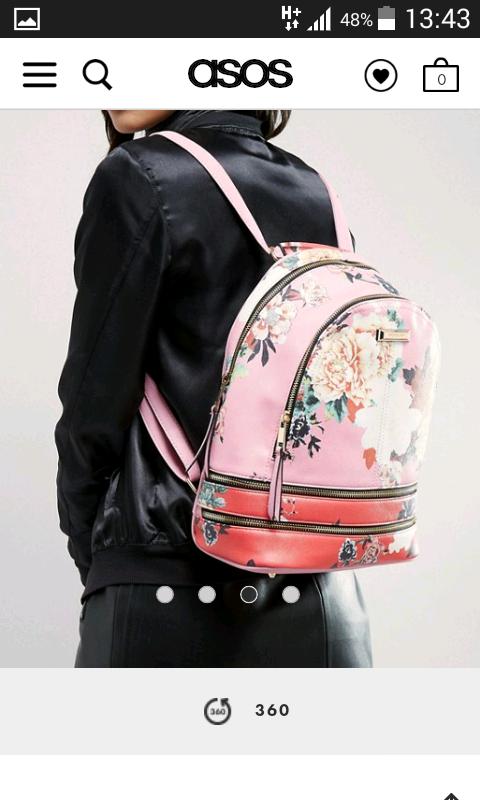 Рюкзак с цветочным принтом River Island, новый