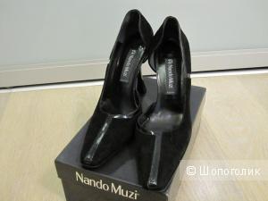Туфли Nando Muzi 39EU замша черные б/у
