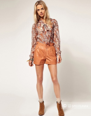 Pepe Jeans Leather Shorts  размер 26