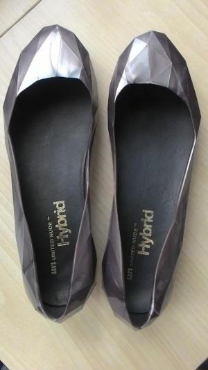 Туфли-балетки серый металлик United Nude, 39 росс.