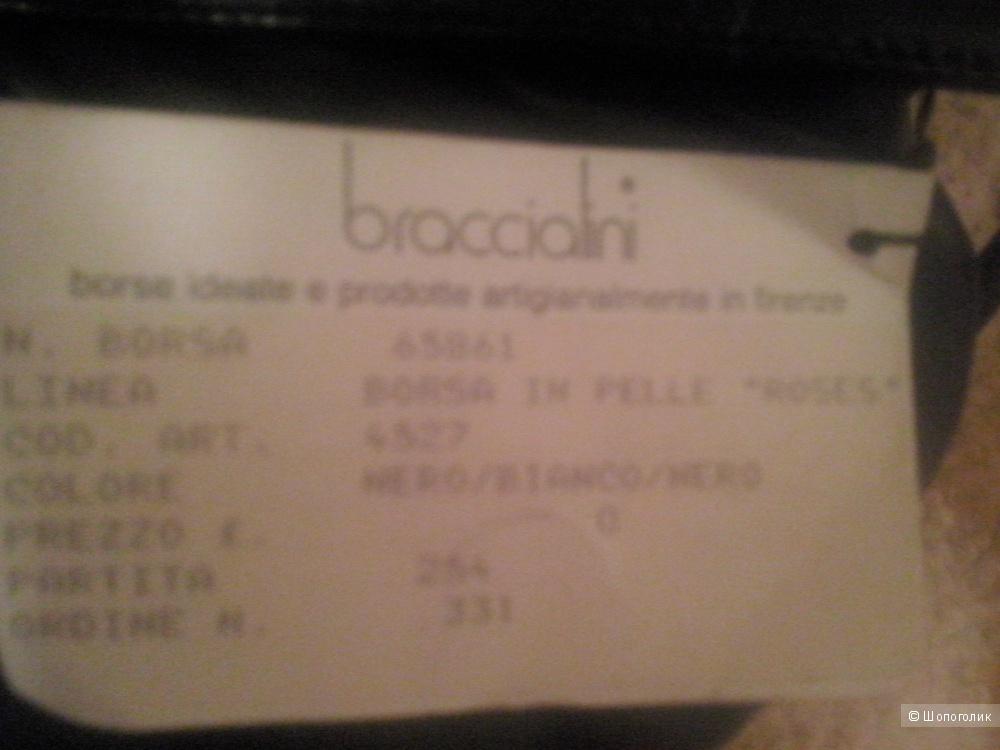 Сумка-клатч  из натуральной кожи, BRACCIALINI,Италия