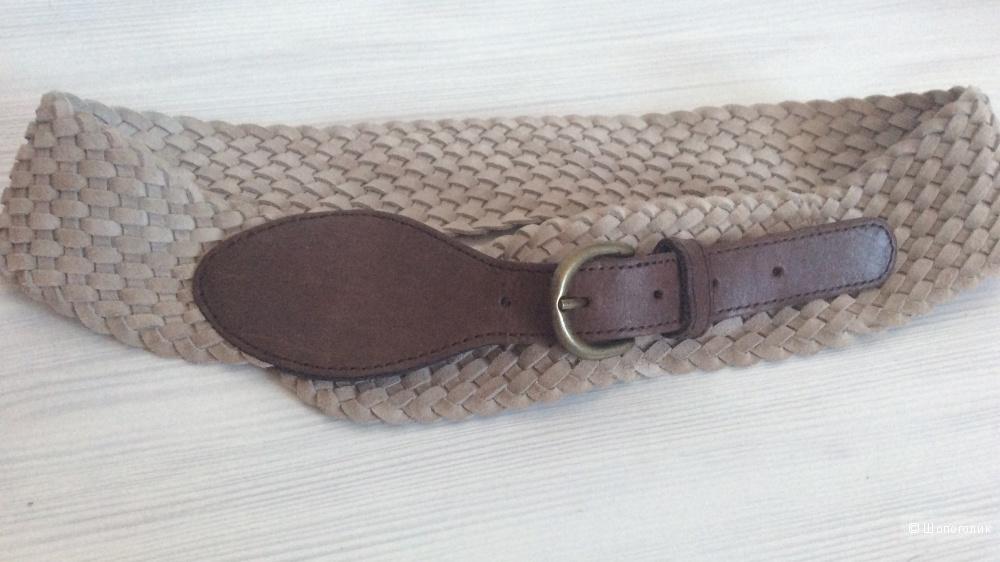 Кожаный ремень с пряжкой Pieces
