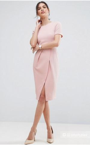 Фактурное двухслойное платье ASOS, размер 40