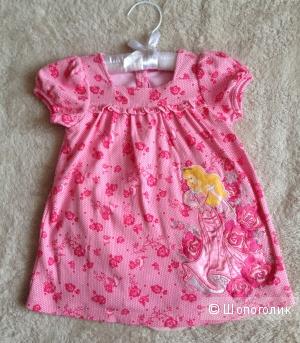 Новое эксклюзивное  платье Disney 12-18m.