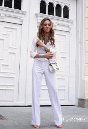 Белоснежные летние брюки, 48-50разм.