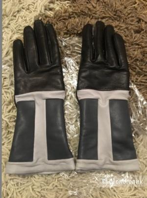 Кожаные перчатки размер 7,5