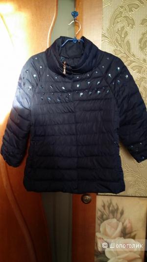 Легкая курточка EVONA сапфирового цвета, рукава  3/4  46 размера
