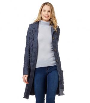Кардиган-пальто аранский Woolovers шерсть 100% размер S