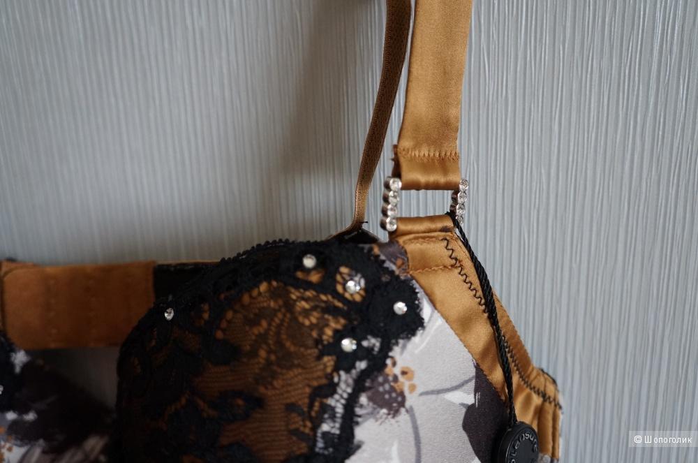 Новый Бюстгальтер 34D Pleasure State Couture . Натуральный шёлк 100%.