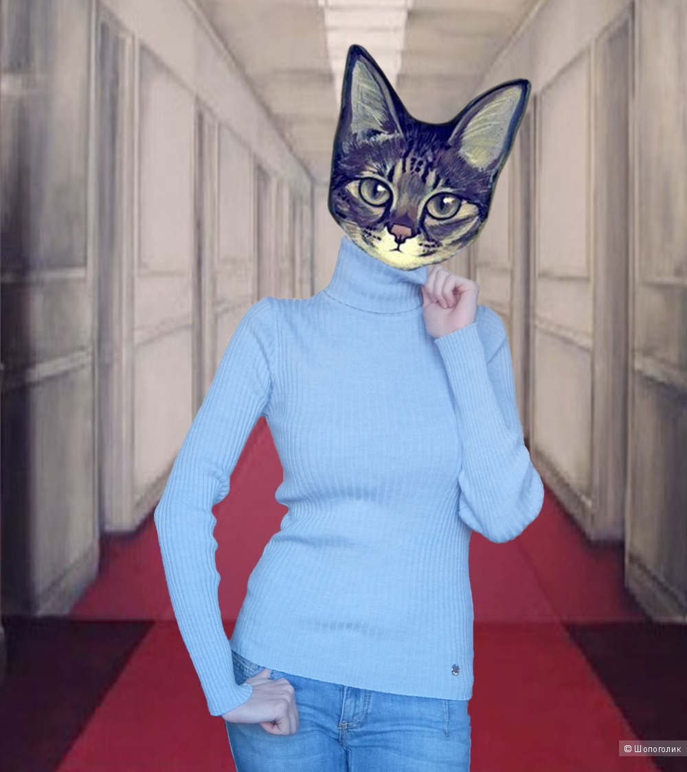 Liu Jo Jeans Водолазка голубая рифленая. (р. S) Новая.