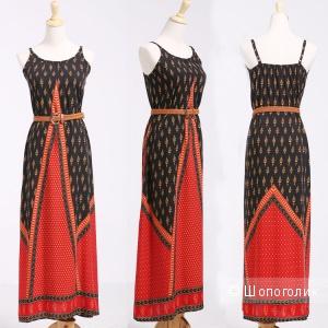 Ситцевое платье макси L(48-50)