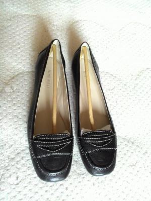 Черные кожаные балетки Nine West, 37 р-р