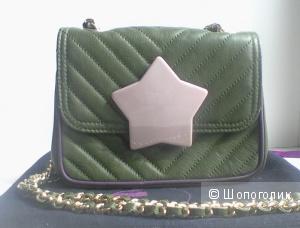 Кожаная простеганная сумка на цепочке Due di picche, Италия