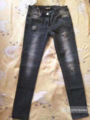 Джинсовые штаны со стразами Gaialuna, размер 40it-42ru.