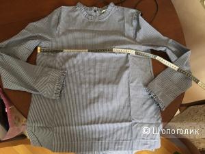 Блузка в полоску с оборками H&M 36 размер
