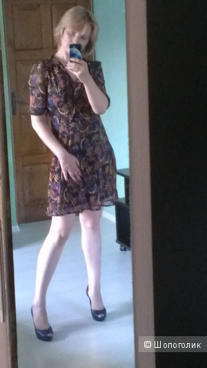 Шифоновое платье на подкладе 46-48разм.