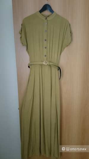 Платье-сафари длинное из вискозы