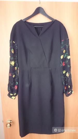Платье с шифоновыми руквами