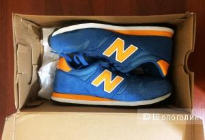 Синие оригинальные кроссовки New Balance 373