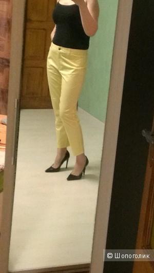 Лимонные хлопковые брюки 7/8 , 50-52разм.
