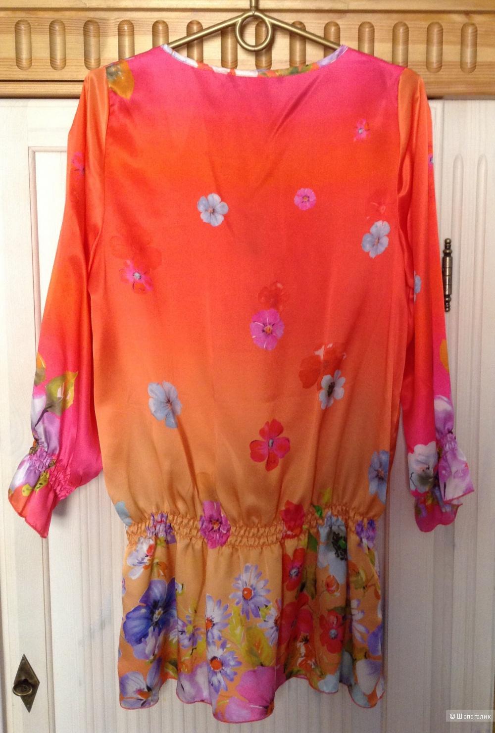 Новая  шелковая блуза-туника EFETTODONNA,Италия
