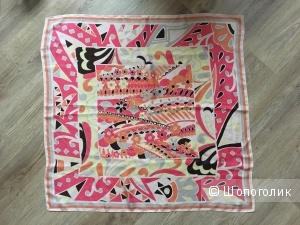 Шелковый платок Uterqüe 90x90 см