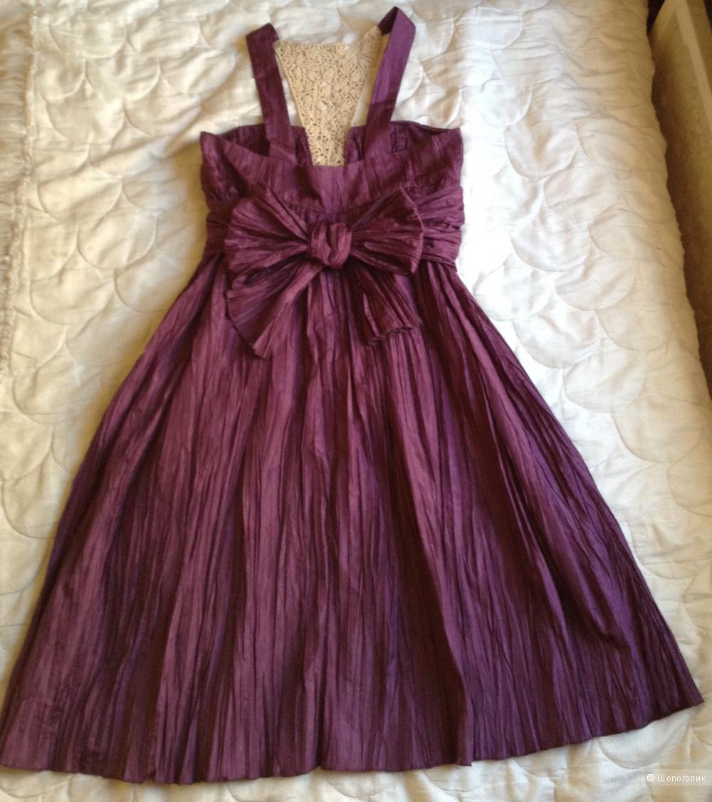Новое пурпурное с кружевом нарядное платье HOSS INTROPIA,Испания