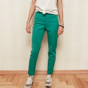 Зелёные брюки H&M euro 36