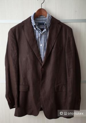 Льняной мужской костюм Massimo Dutti, L-XL в прекрасном состоянии