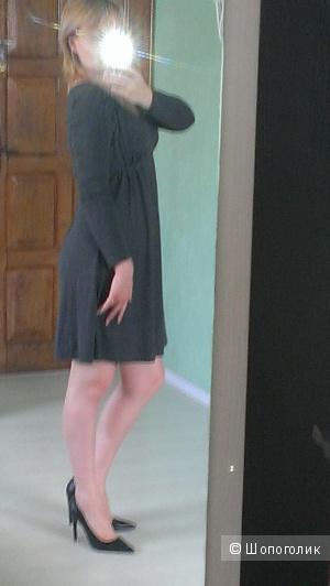 Платье свободного кроя из тонкого трикотажа 46-48разм.