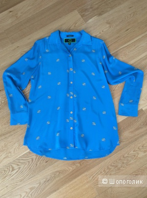 Шелковая блузка Wonder красивого цвета с принтом р.М (на росс. 46)
