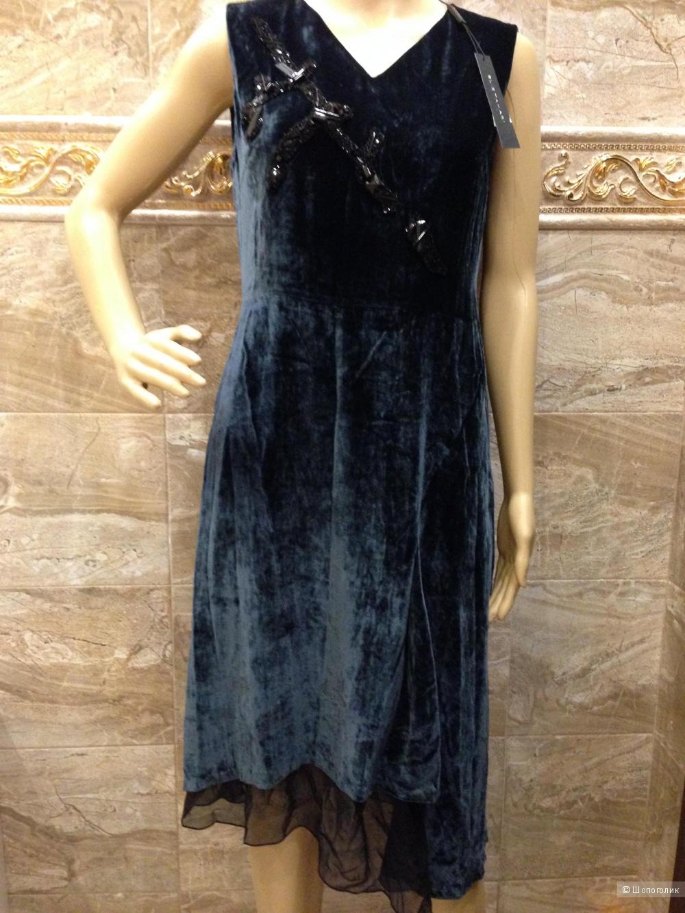 Elie Tahari шикарное дизайнерское бархатное  платье р.46 Новое.Оригинал