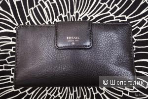 Новый кожаный кошелек Fossil оригинал unisex