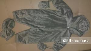 Жемчужно серый детский комбинезон COCOON
