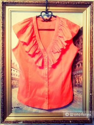 Новая блузка оранжевого цвета x&t fashion 46-го размера